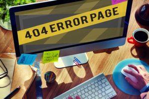 configurare la pagina errore 404