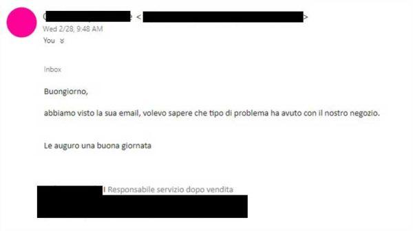 rispondere ai reclami dei clienti via email
